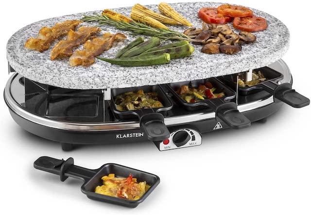 raclette grill steinplatte